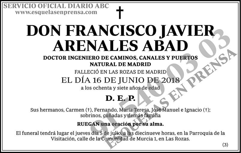 Francisco Javier Arenales Abad